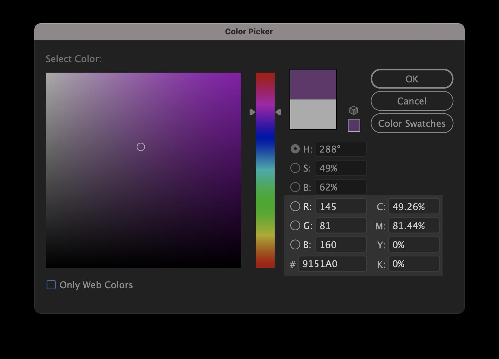Illustrator color window