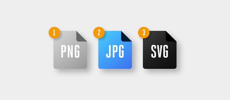 PNG JPG and SVG files
