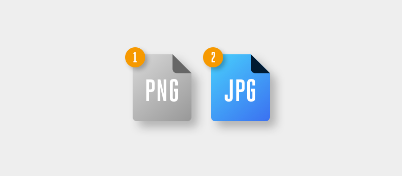 PNG and JPG files