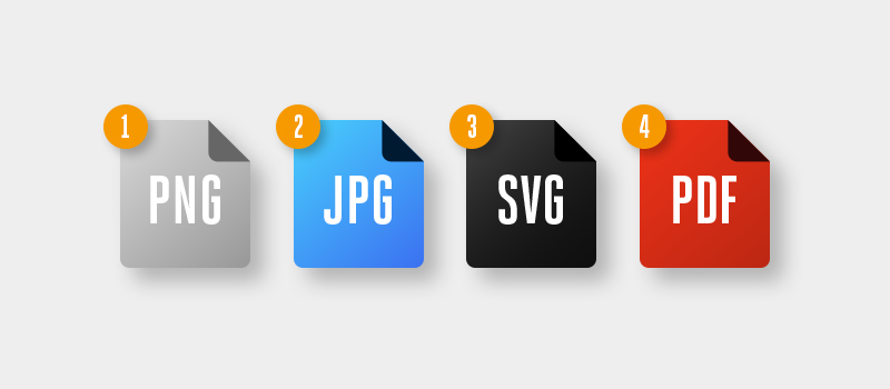 PNG JPG SVG and PDF files