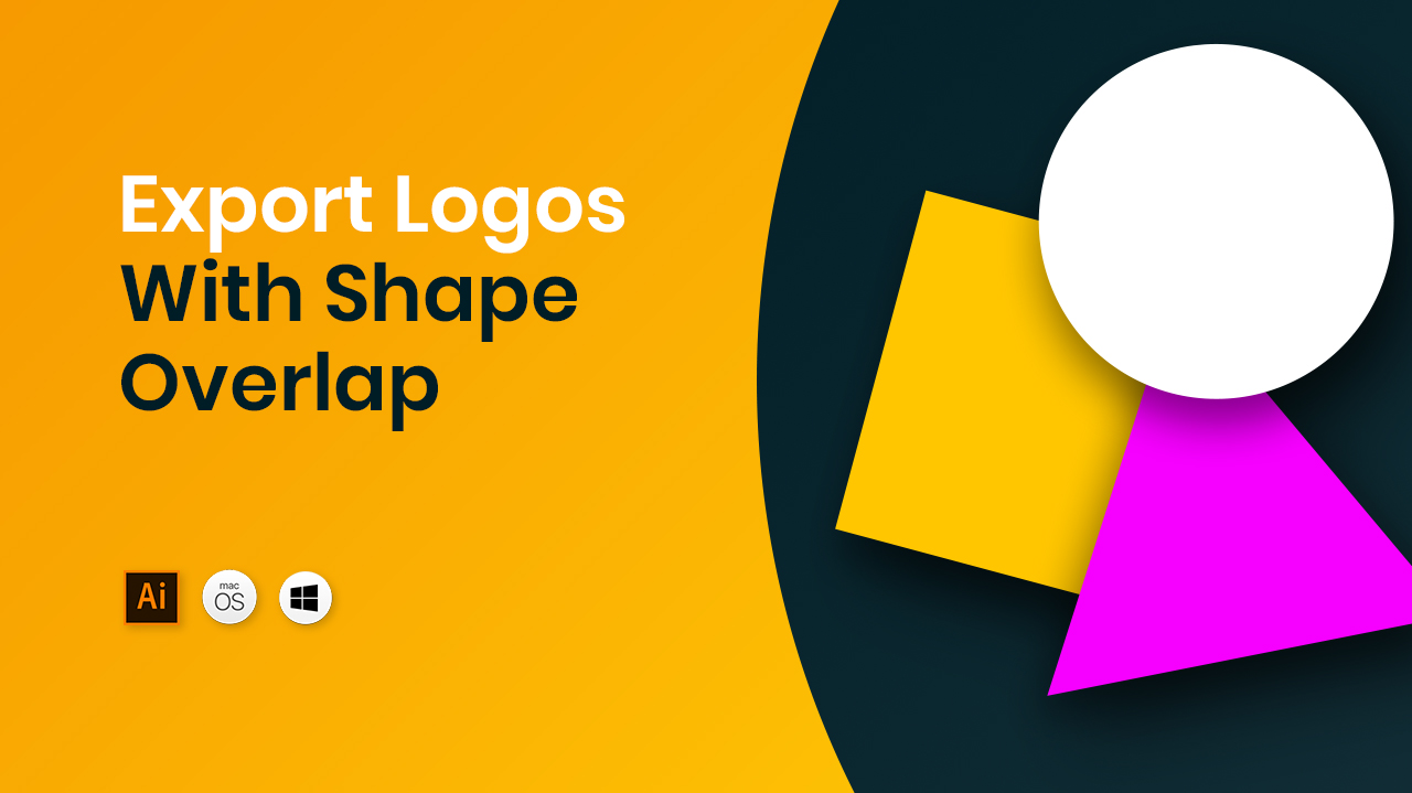 Export logos with shape overlap tutorial preview