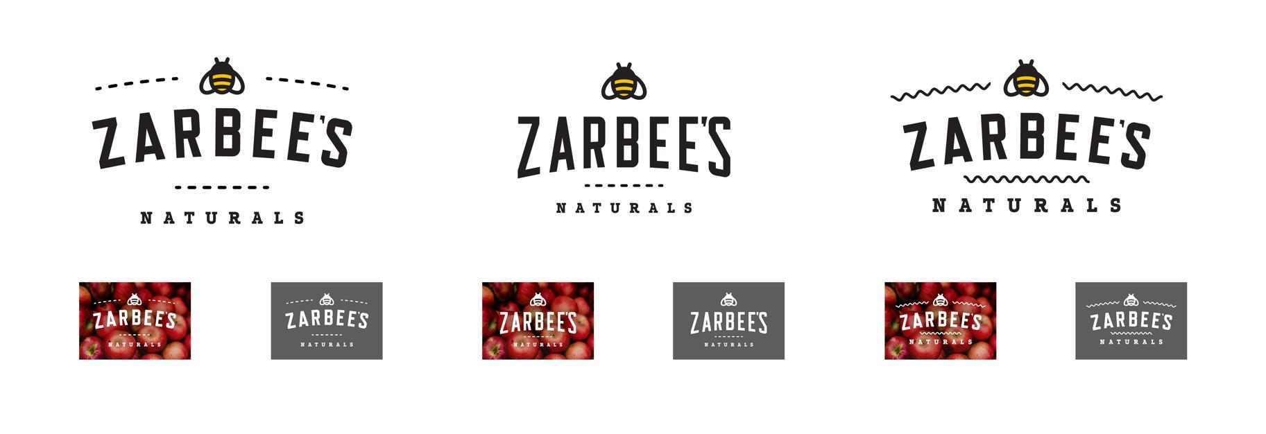 Zarbee's logo design options