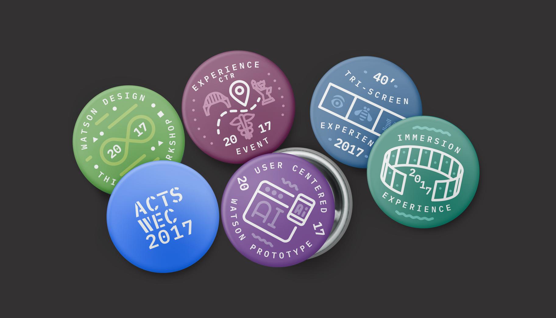 2017 ACTS/WEC team pins