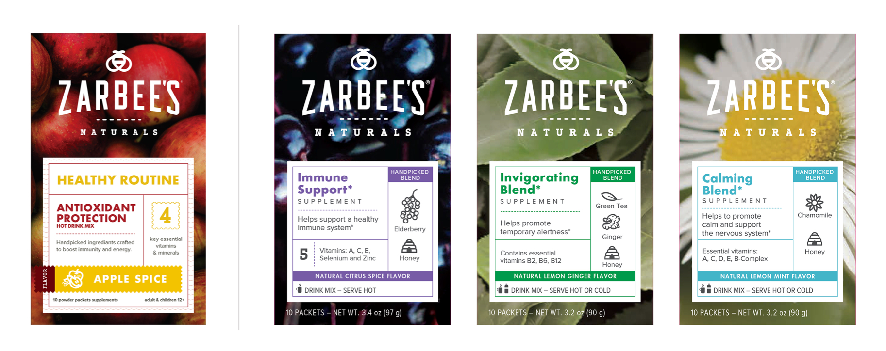 Zarbee's Final Packaging against concept