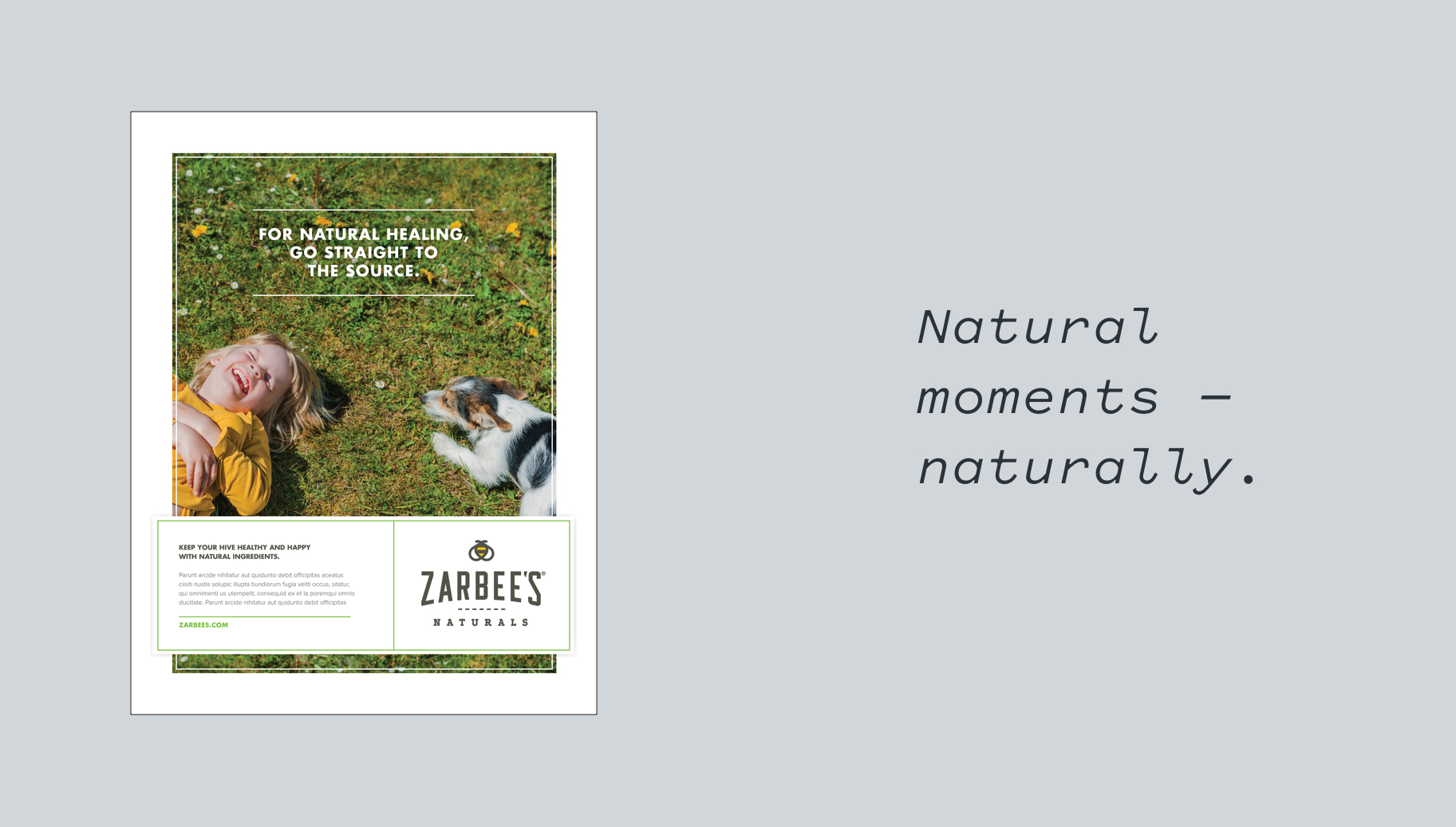 Zarbee's Naturals brand advertising