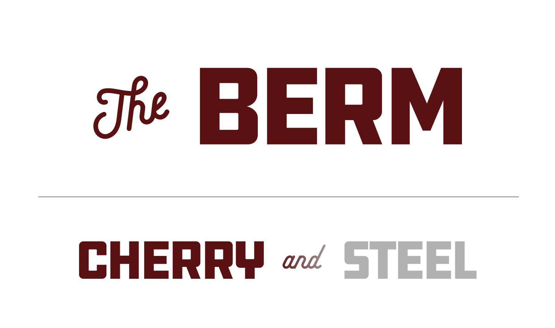 The Berm lockup | Cherry & Steel