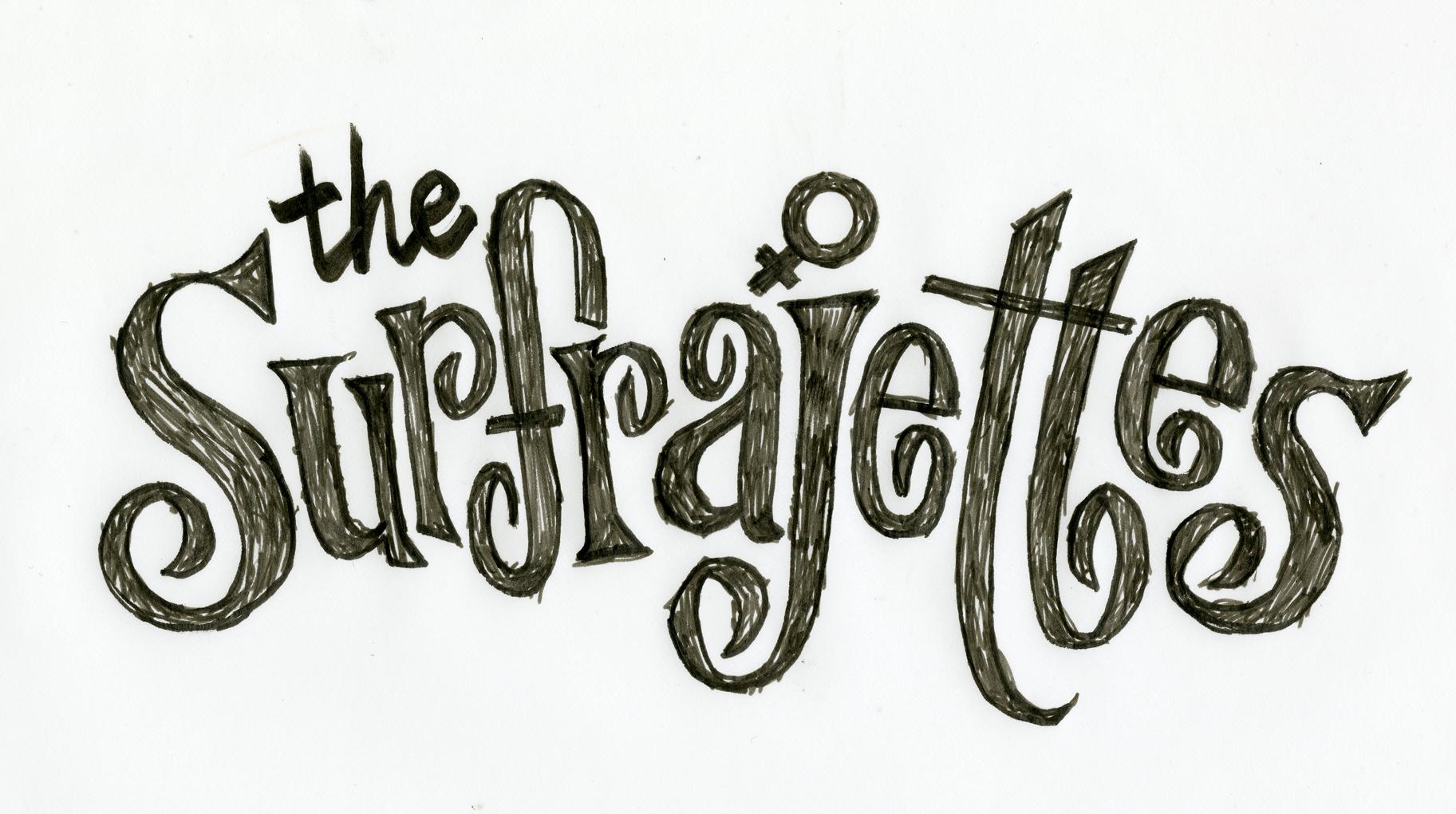 Hand-lettered Surfrajettes logo version 1