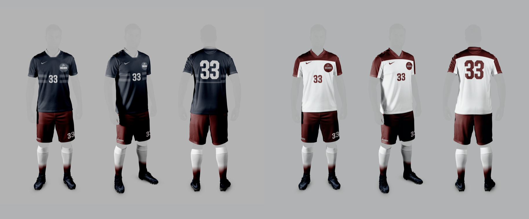 Away and Third soccer uniform