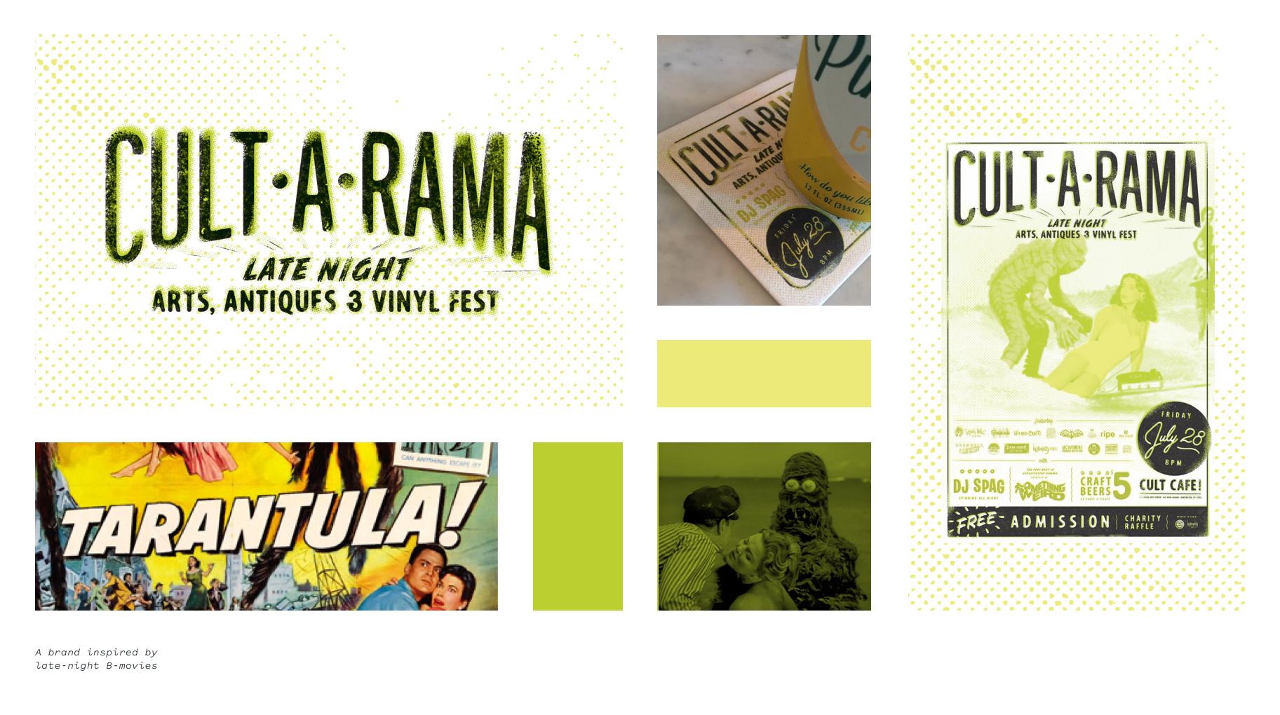 Cult•A•Rama branding examples