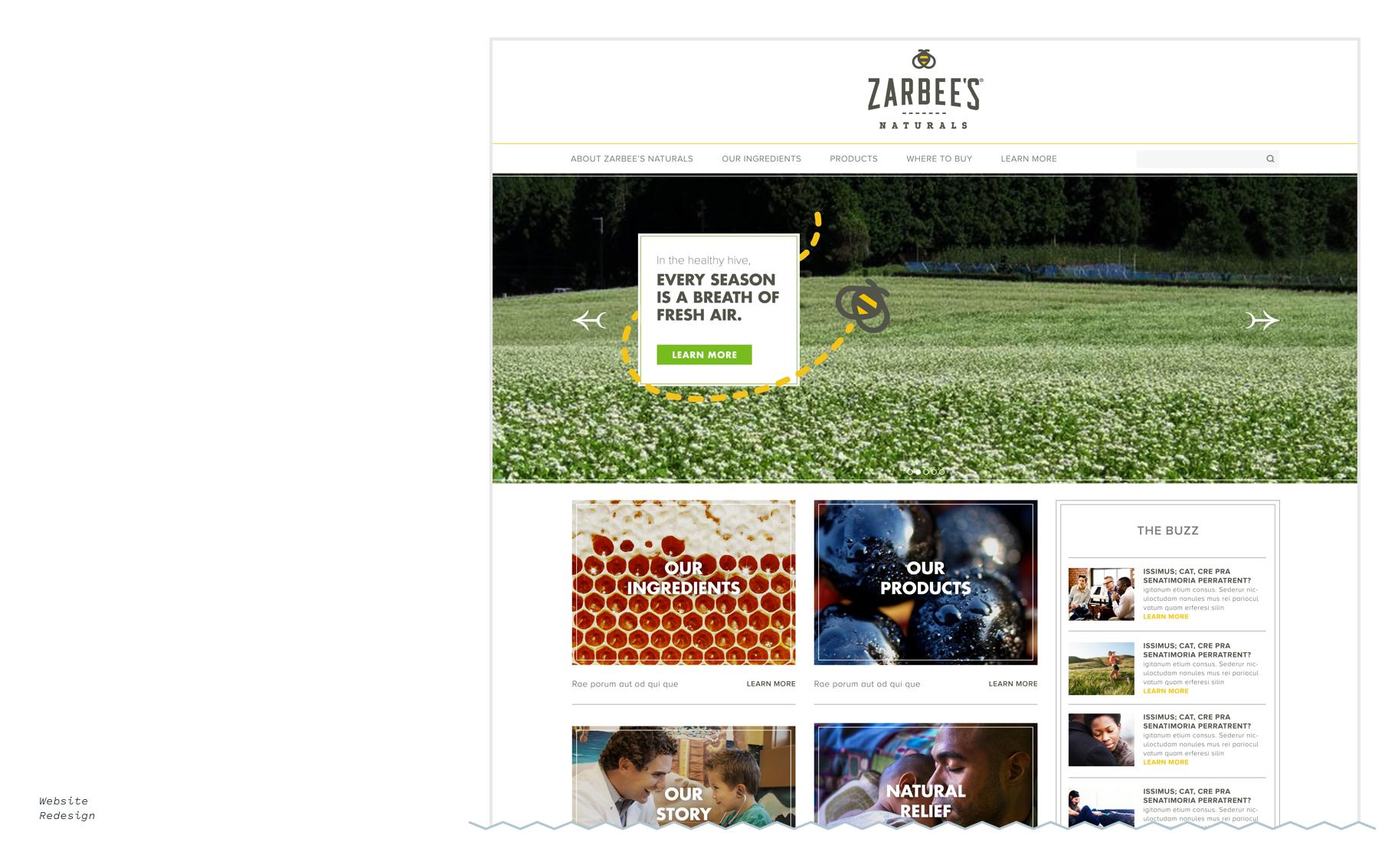 Zarbee's logo design