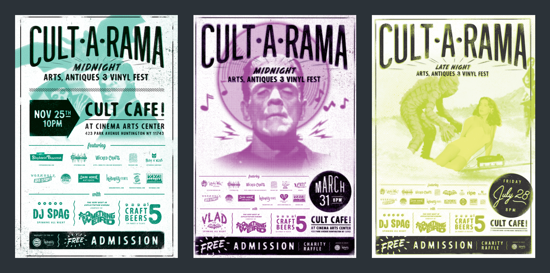 Cult•A•Rama posters