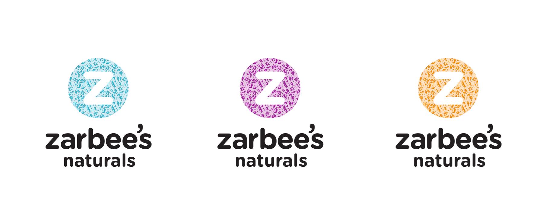 Zarbee's Naturals ingredient inspired logo designs