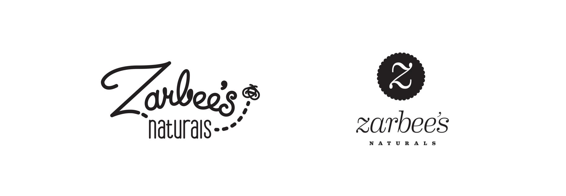 Zarbee's Naturals modern apothecary logo designs