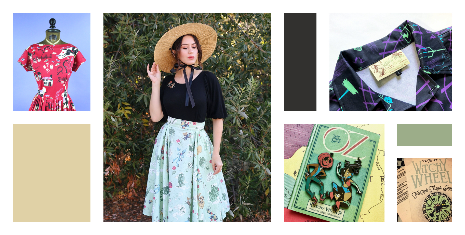 Photos of dresses and models wearing Kitschy Witch Designs