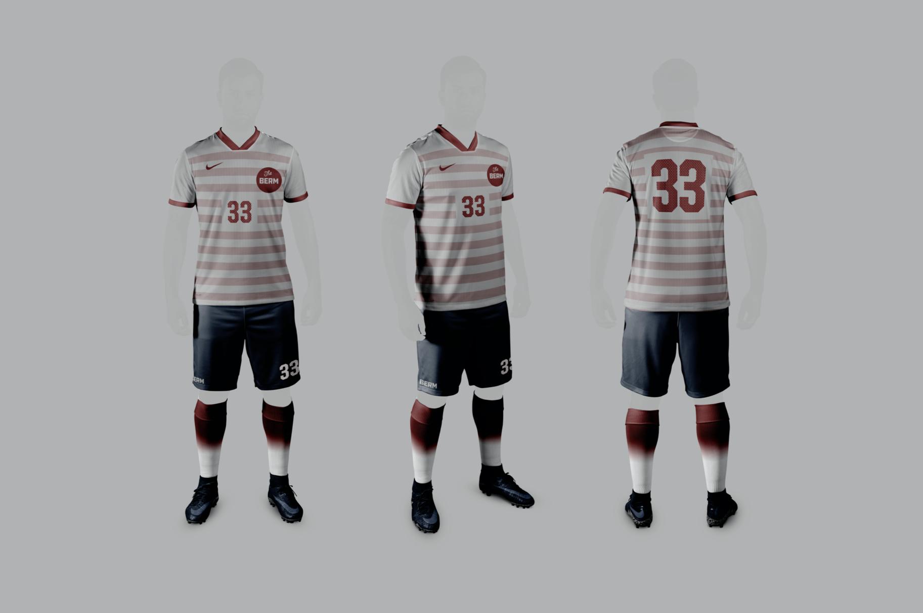 Home soccer uniform