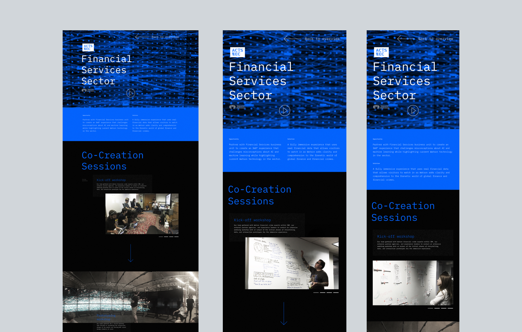 Case study web page design.