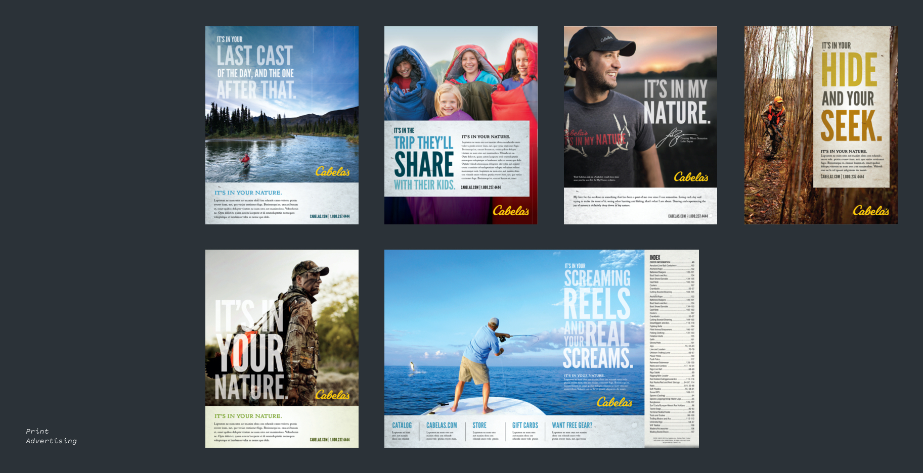 Cabela's advertising design