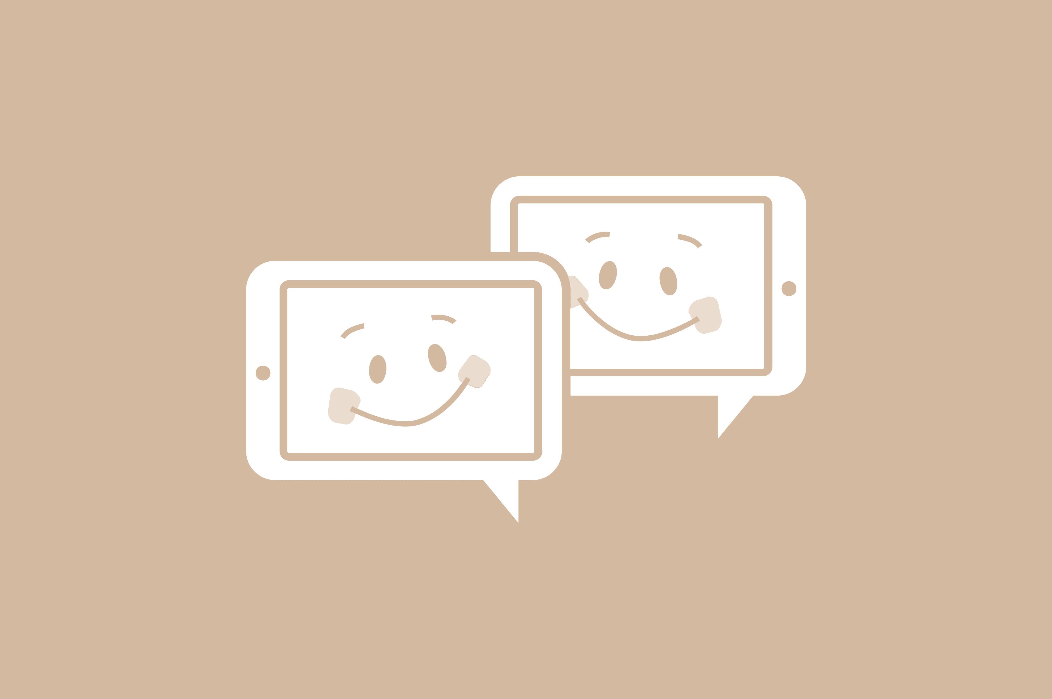 iPad chat icon