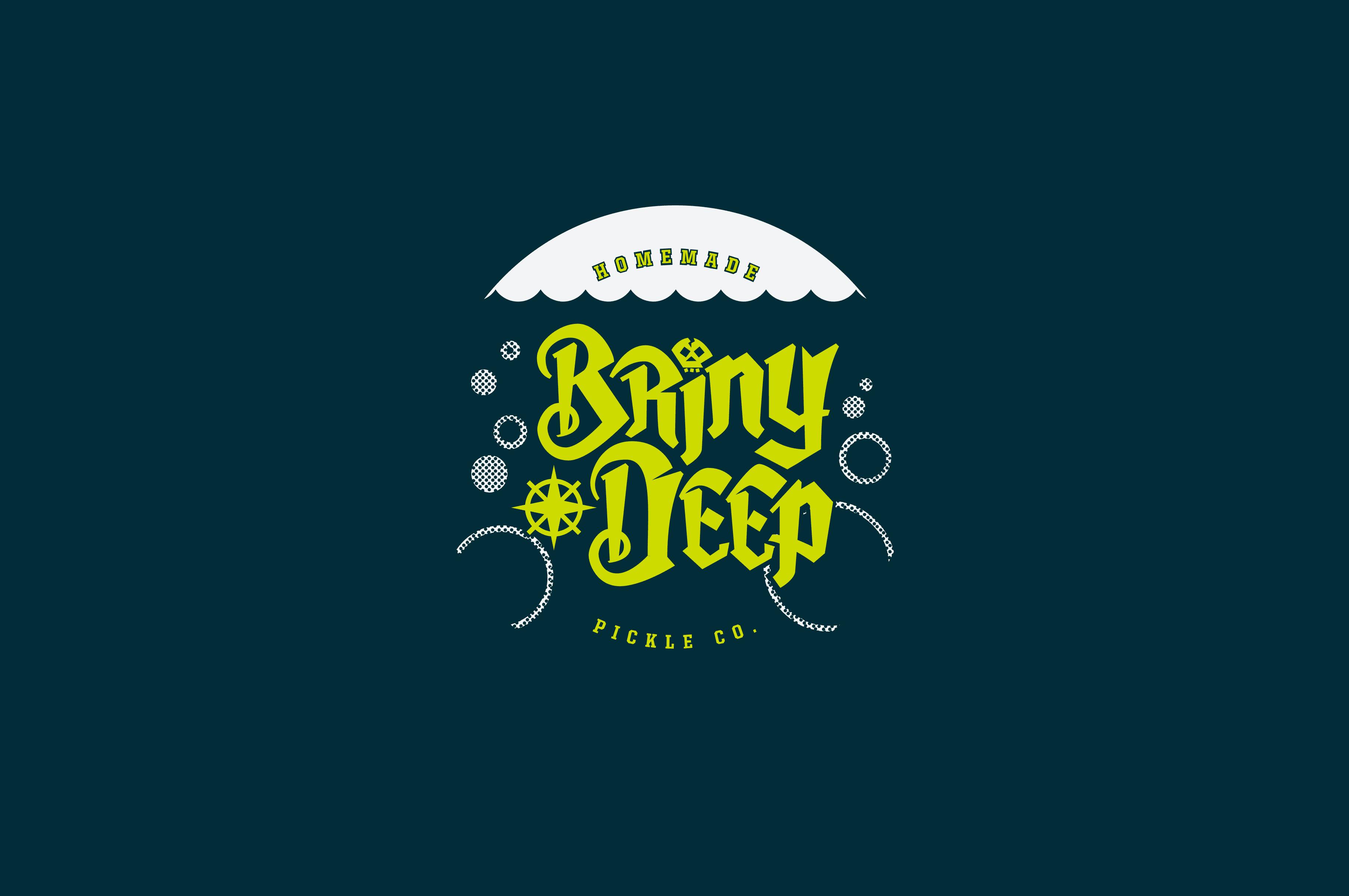 Briny deep logo design