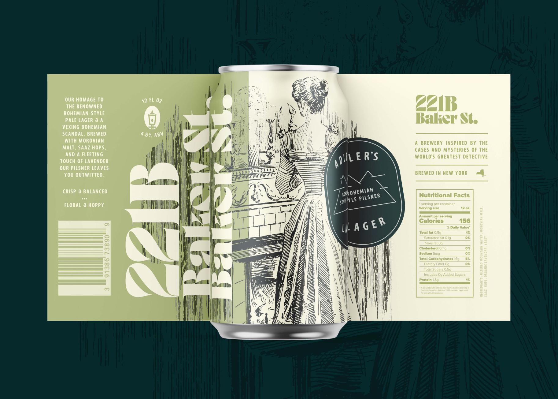 Can design for Adler's bohemian-style pale pilsner lager