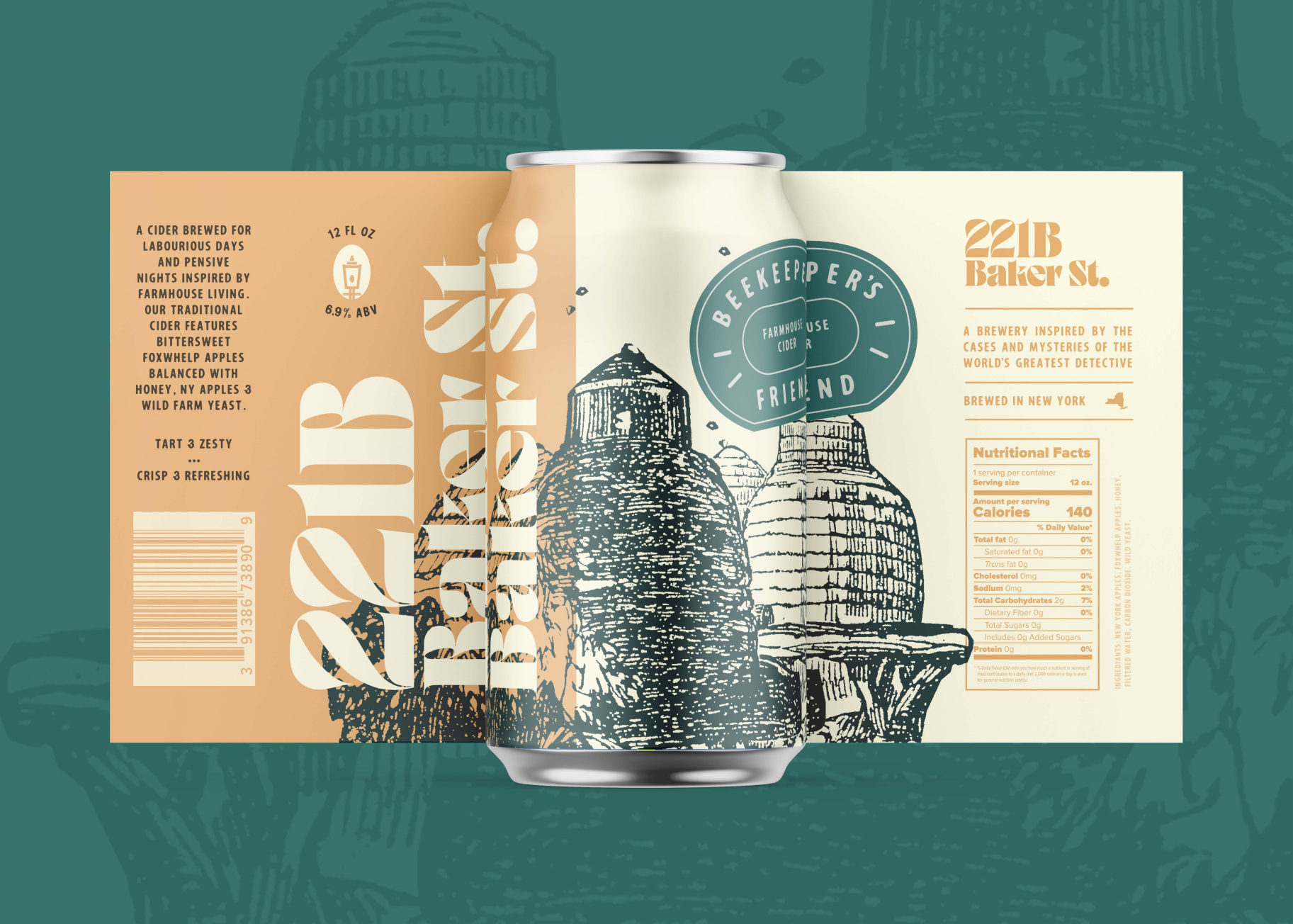 Can design for Beekeeper's Friend Farmhouse Cider