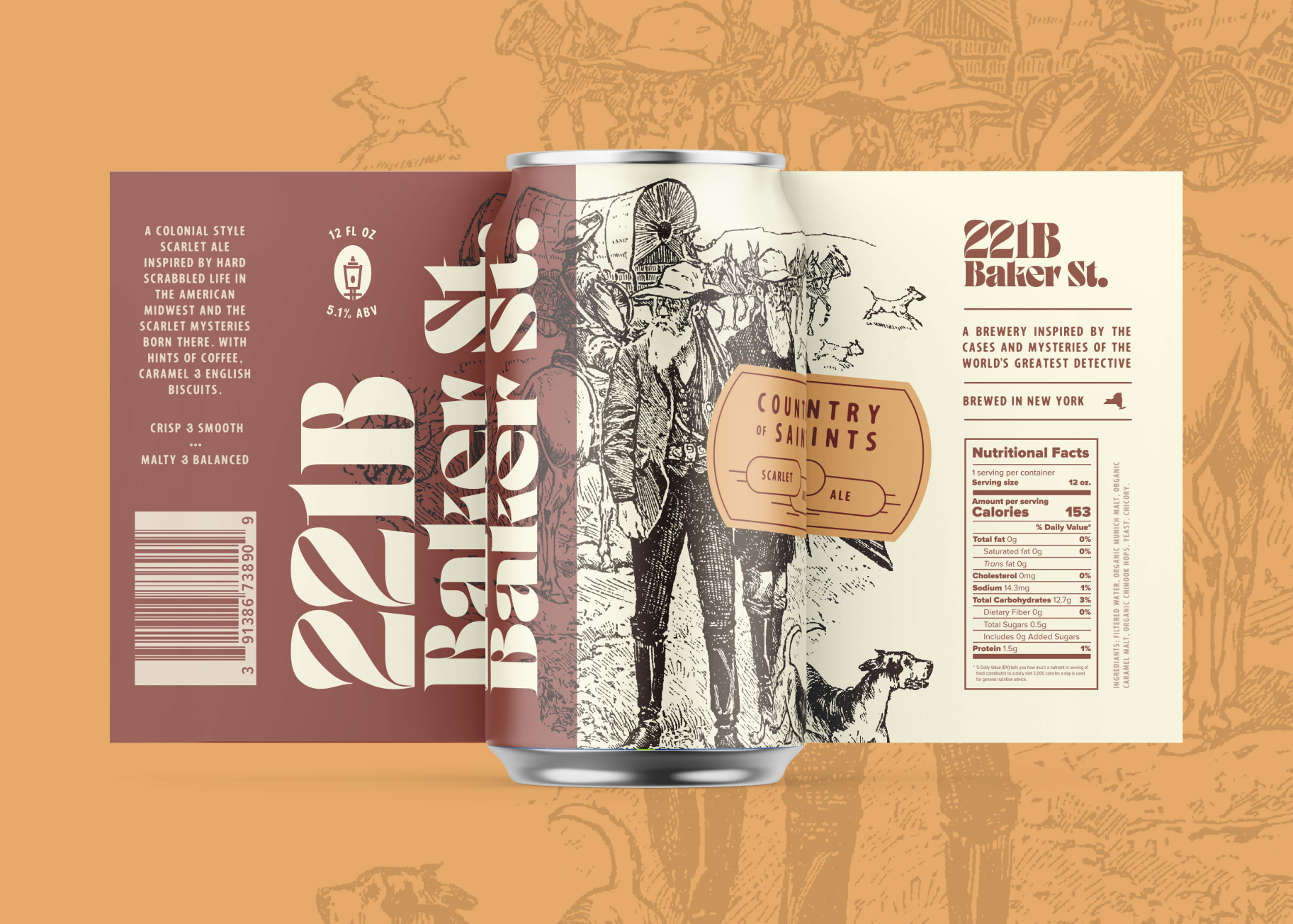 Can design for Country of Saints Scarlet Ale