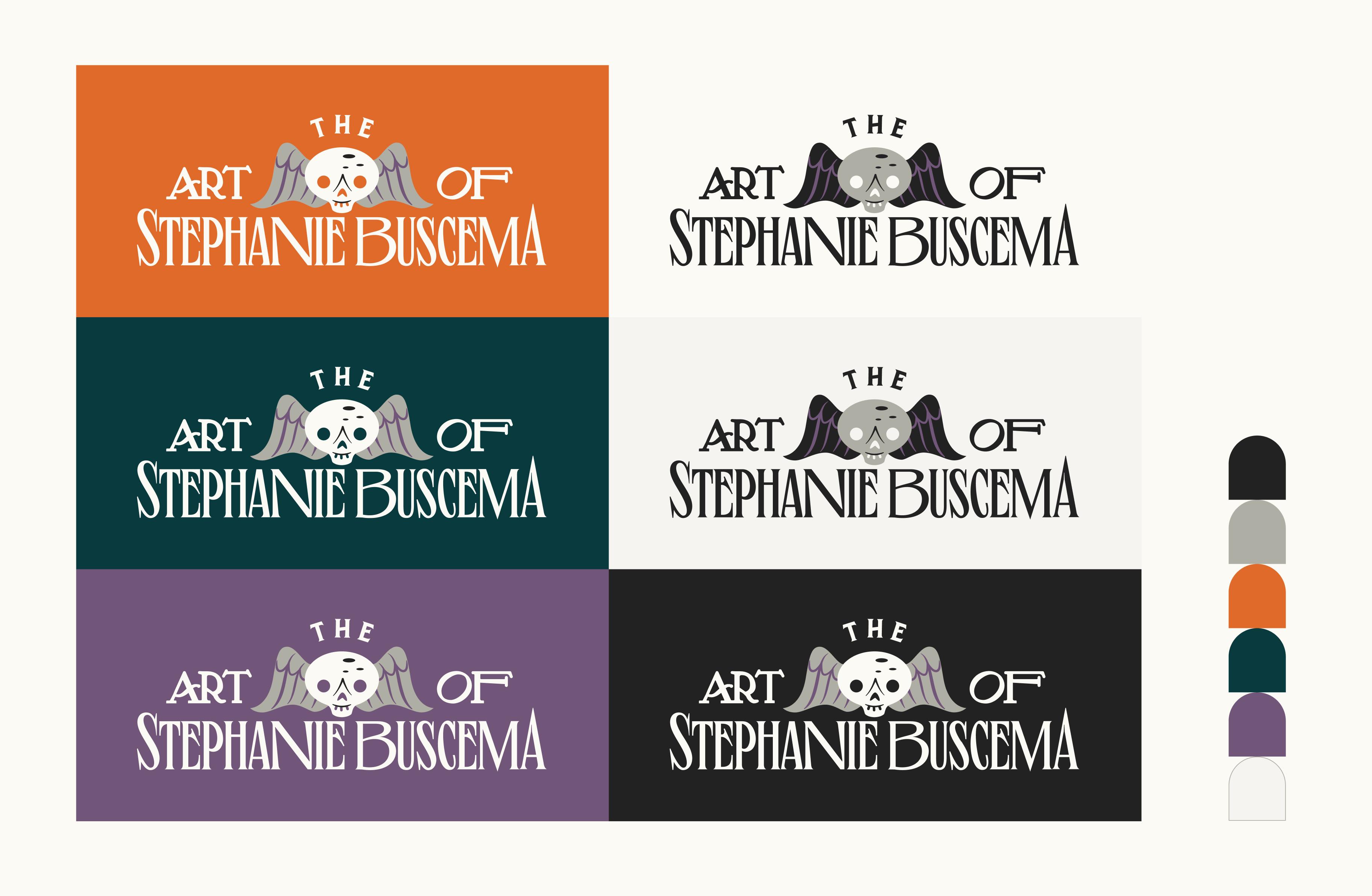 Logo design colorways — The Art of Stephanie Buscema