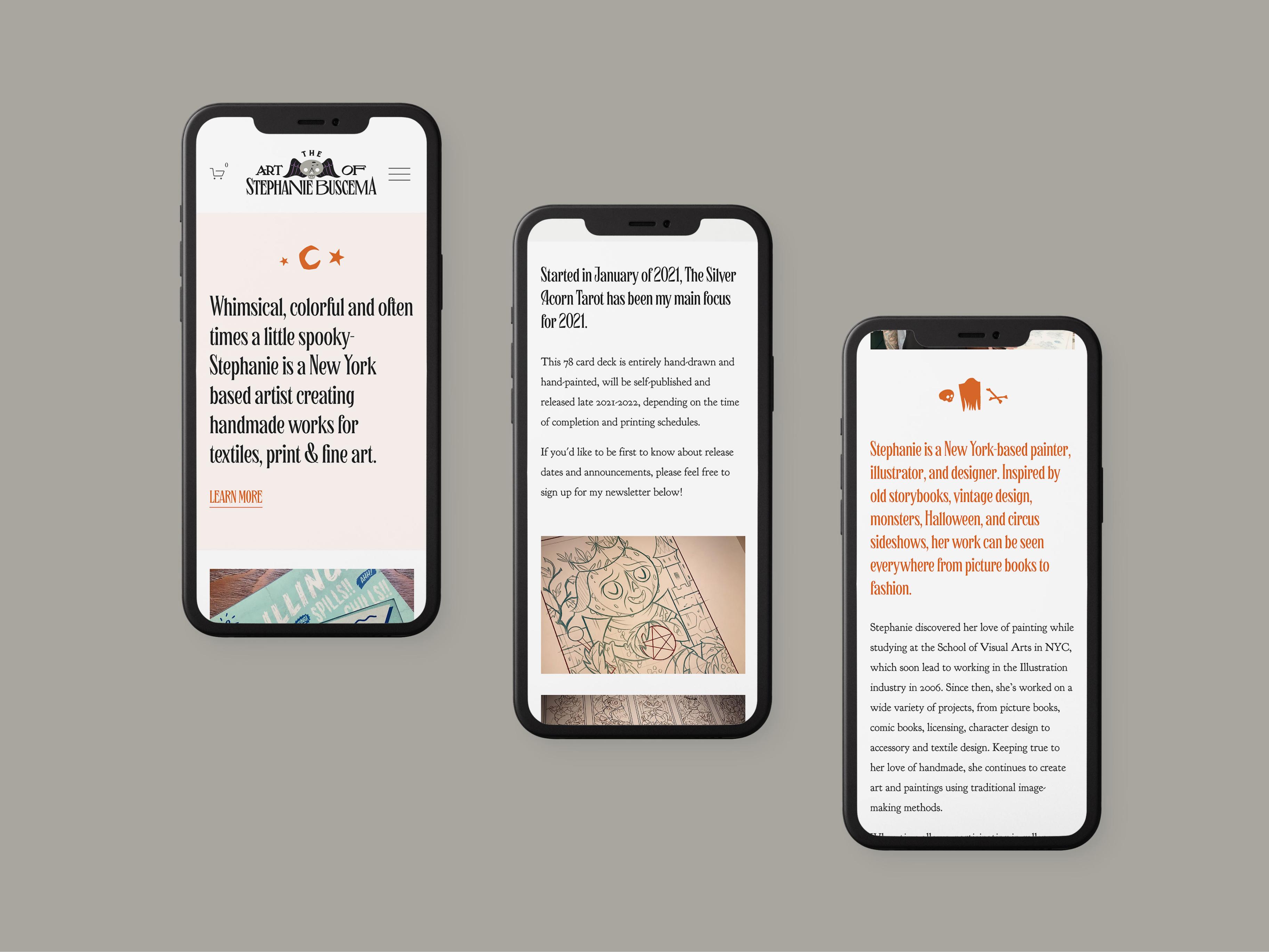 Mobile design — The Art of Stephanie Buscema
