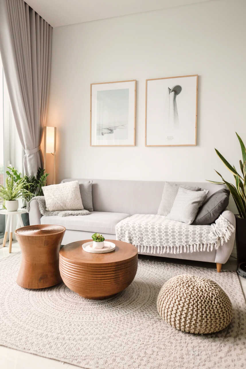 Bright and clean modern living room