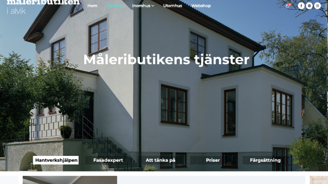 hemsida i wordpress