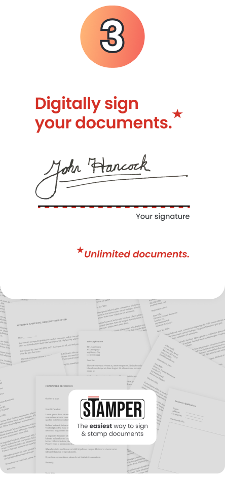 Sign your documents with your digital signature.
