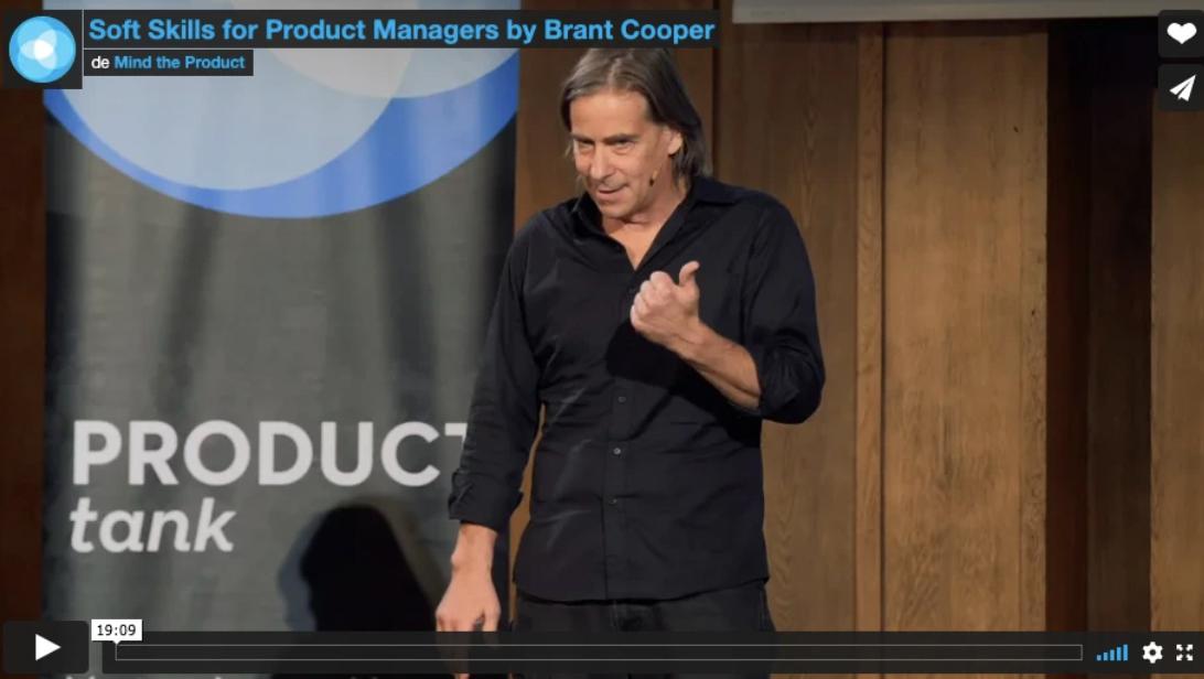 """""""Soft skills for Product Managers"""" par Brant Cooper, CEO et fondateur de """"Mooves the Needle"""""""