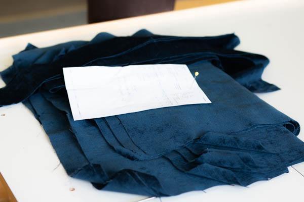 Sitwell Ferdig kappet tekstil klar for Søm avdeling