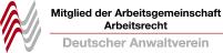 Mitglieds-Badge der Arbeitsgemeinschaft Arbeitsrecht vom deutschen Anwaltverein
