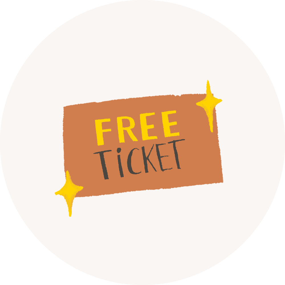 An illustration of a free ticket