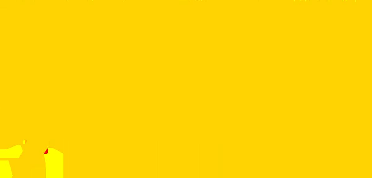An illustration of a yellow speech balloon
