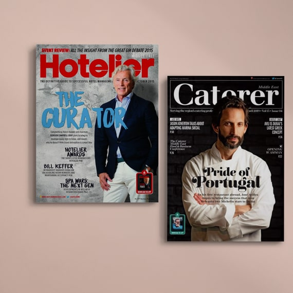 Hotel magazine and Caterer magazine covers