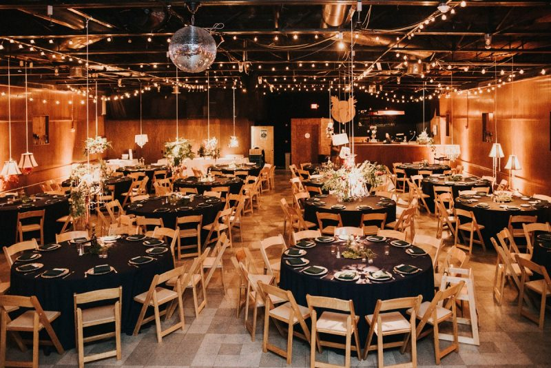 The Hall at Spirit decorated for a wedding