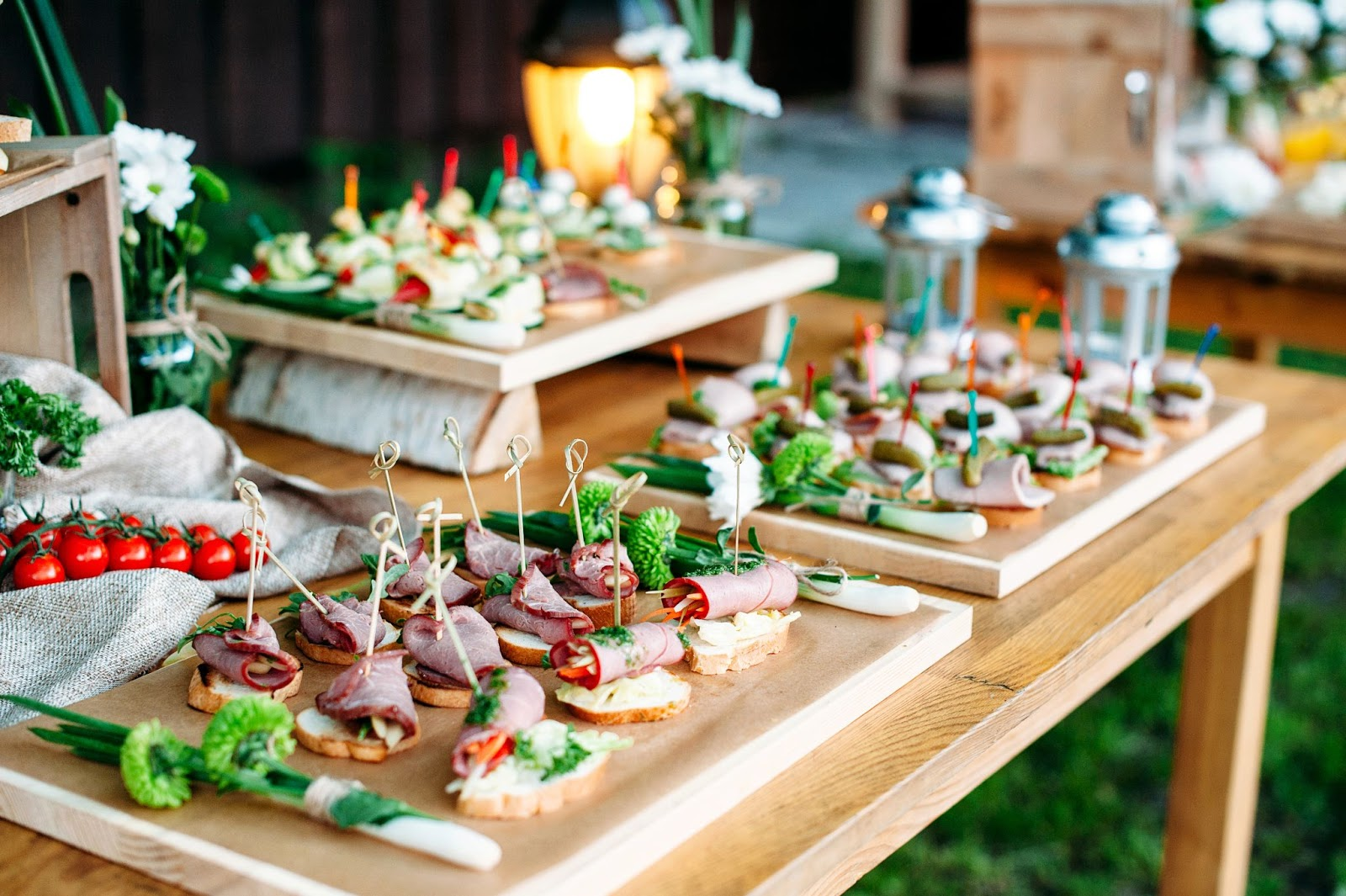 Table with finger foods
