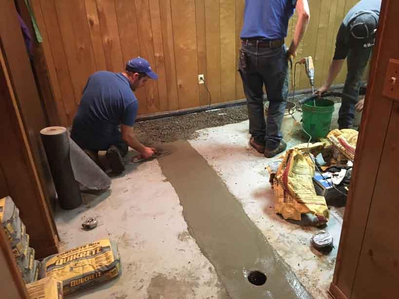 Waterproofing contractors working
