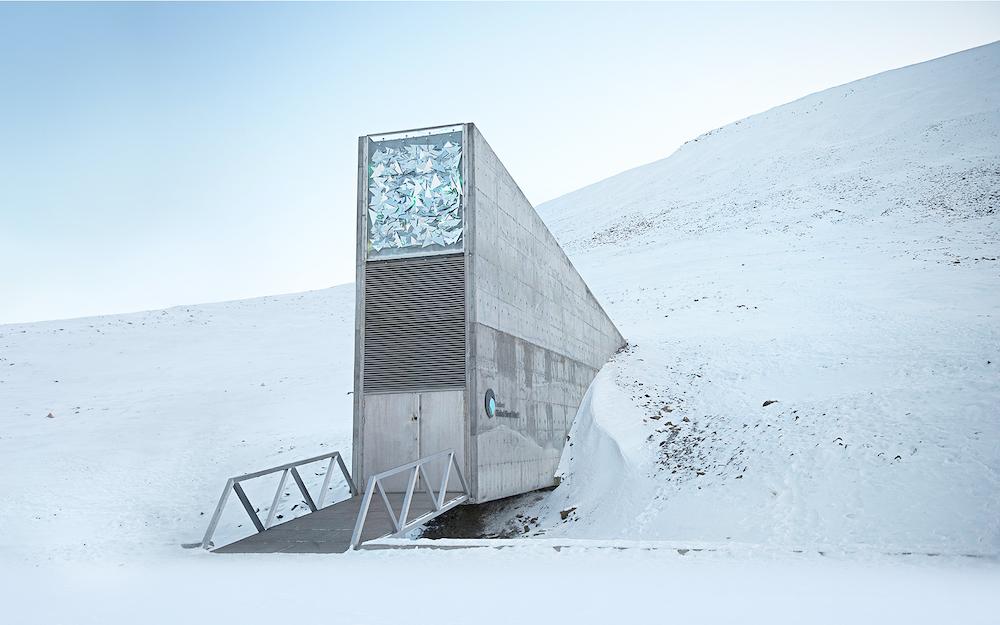 The global seed vault entrance in Svalbard, Norway