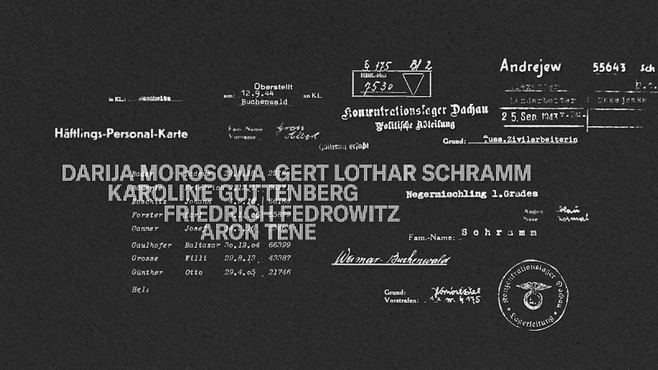 Every name counts. Arolsen archives. start2remember. Animation