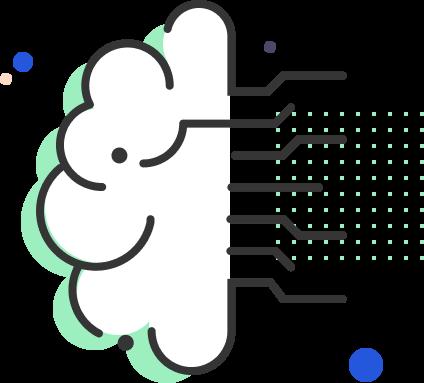 Ilustração da funcionalidade de machine learning da plataforma Lexter.