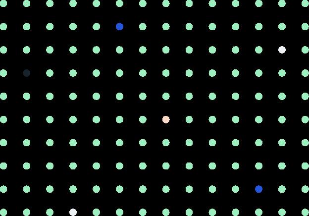 Textura decorativa com círculos coloridos distribuídos igualmente em uma área definida.