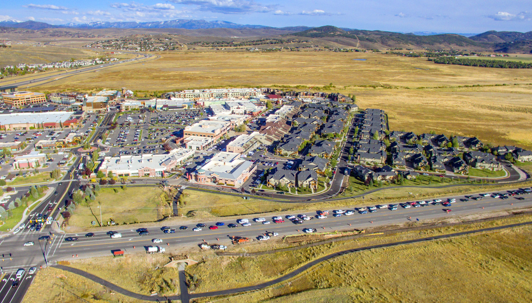 Dining, shopping, relaxing, all available at the Redstone Shopping Center located in Park City, Utah.