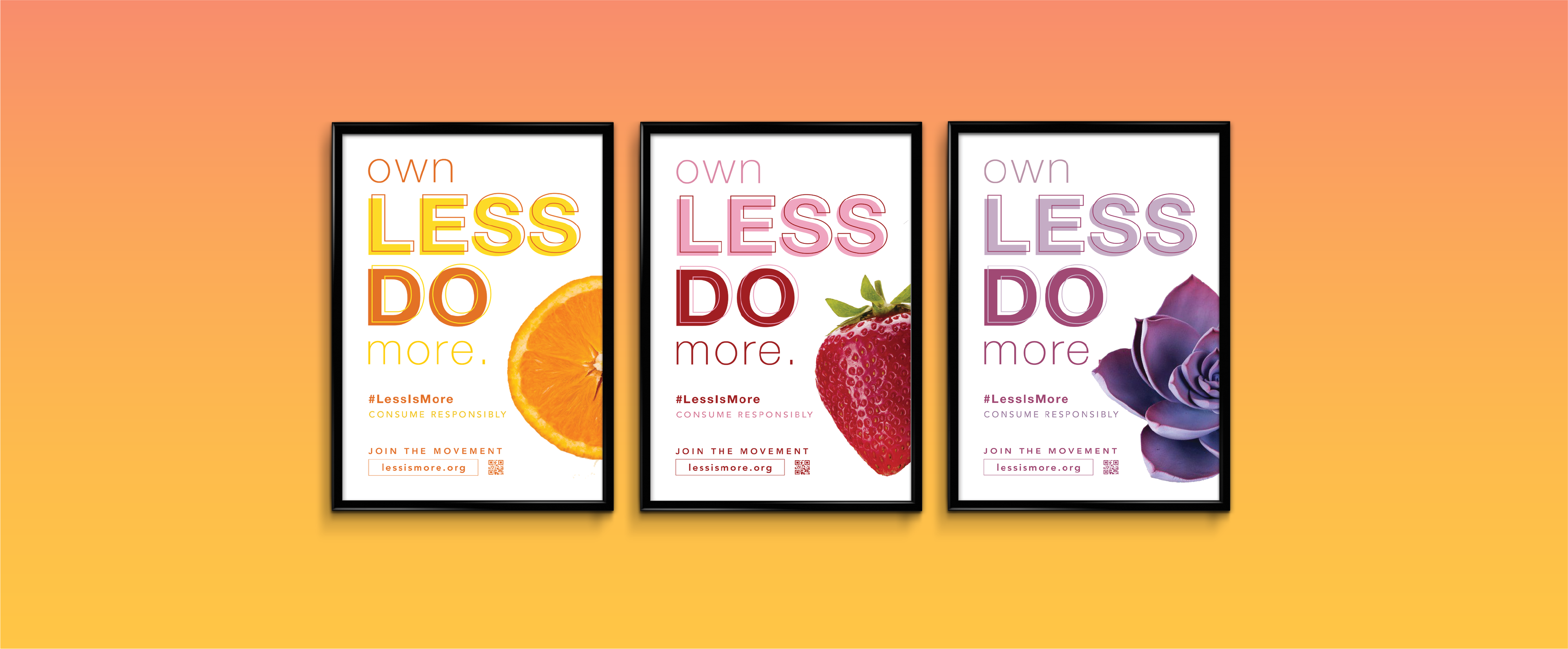 """Less Is More"""" is a social campaign and non-profit organization that aims to promote responsible and sustainable consumption habits to the public."""