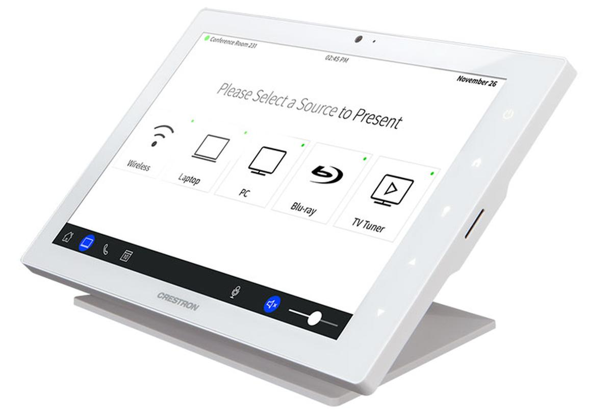 Crestron TSW touch panels for zoom room and room control