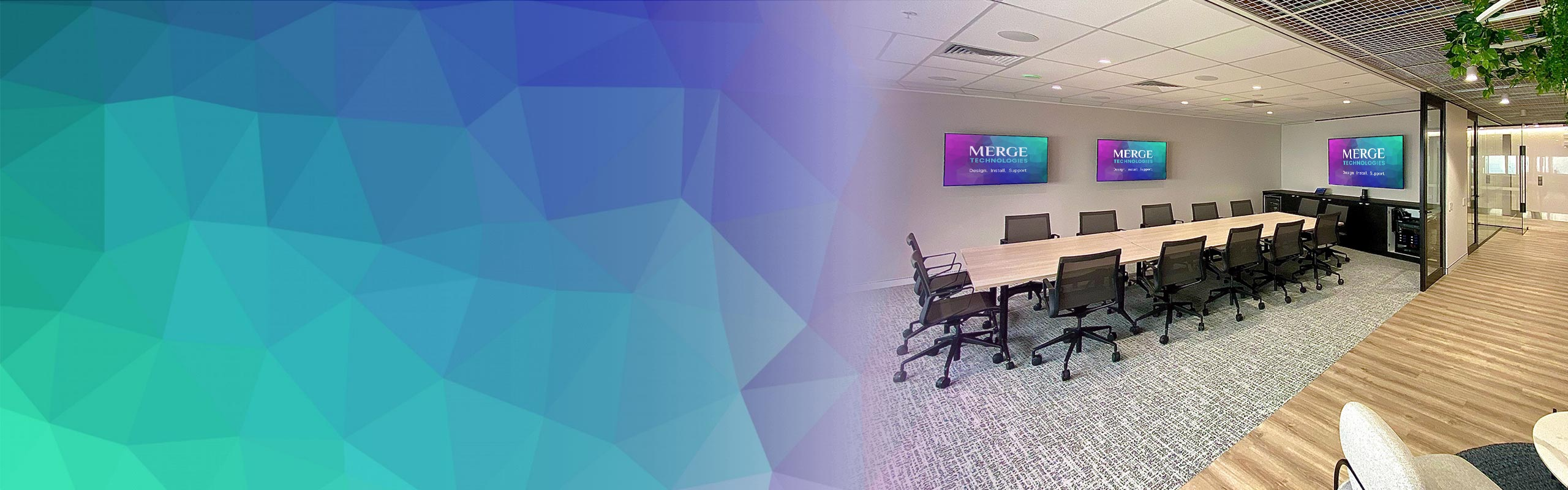 video conference meeting and boardroom by Merge Technologies