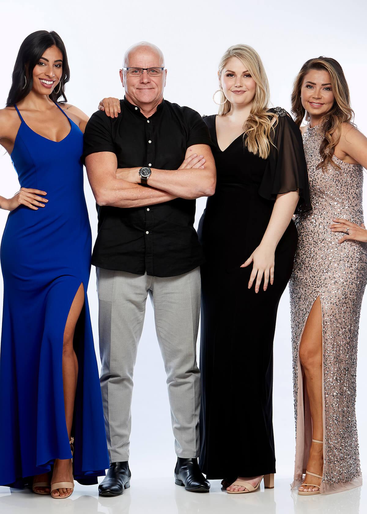 Martin J Sanders with models for his brands Zaliea, Layla Jones and Jesse Harper