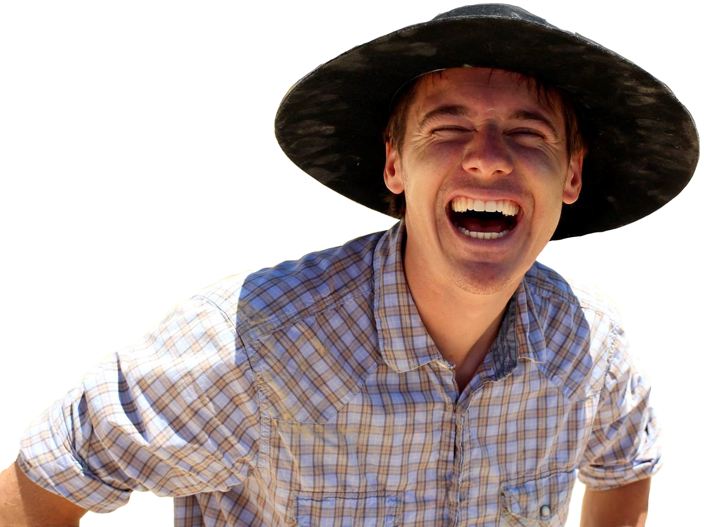 Tyler Smith wearing a black brimmed hat